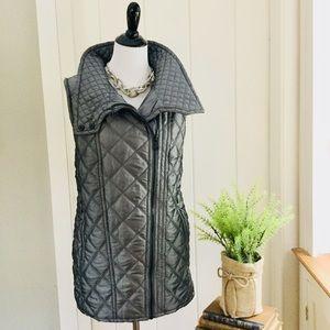 MARCNEWYORK ANDREW MARC Silver Grey Puffer Vest